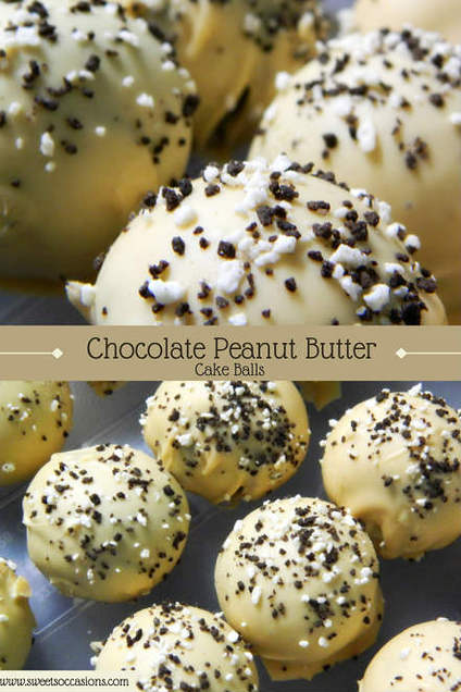 Chocolate Peanut Butter Cake Balls by Sweets Occasions
