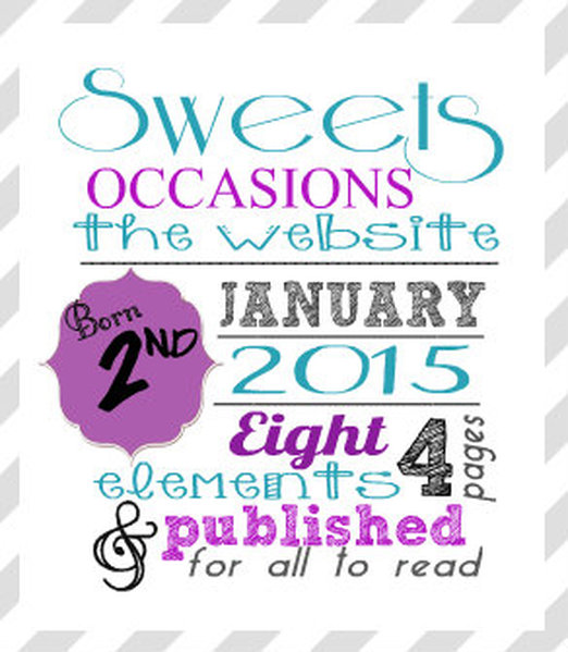 {Sweets Occasions} Birth Announcement